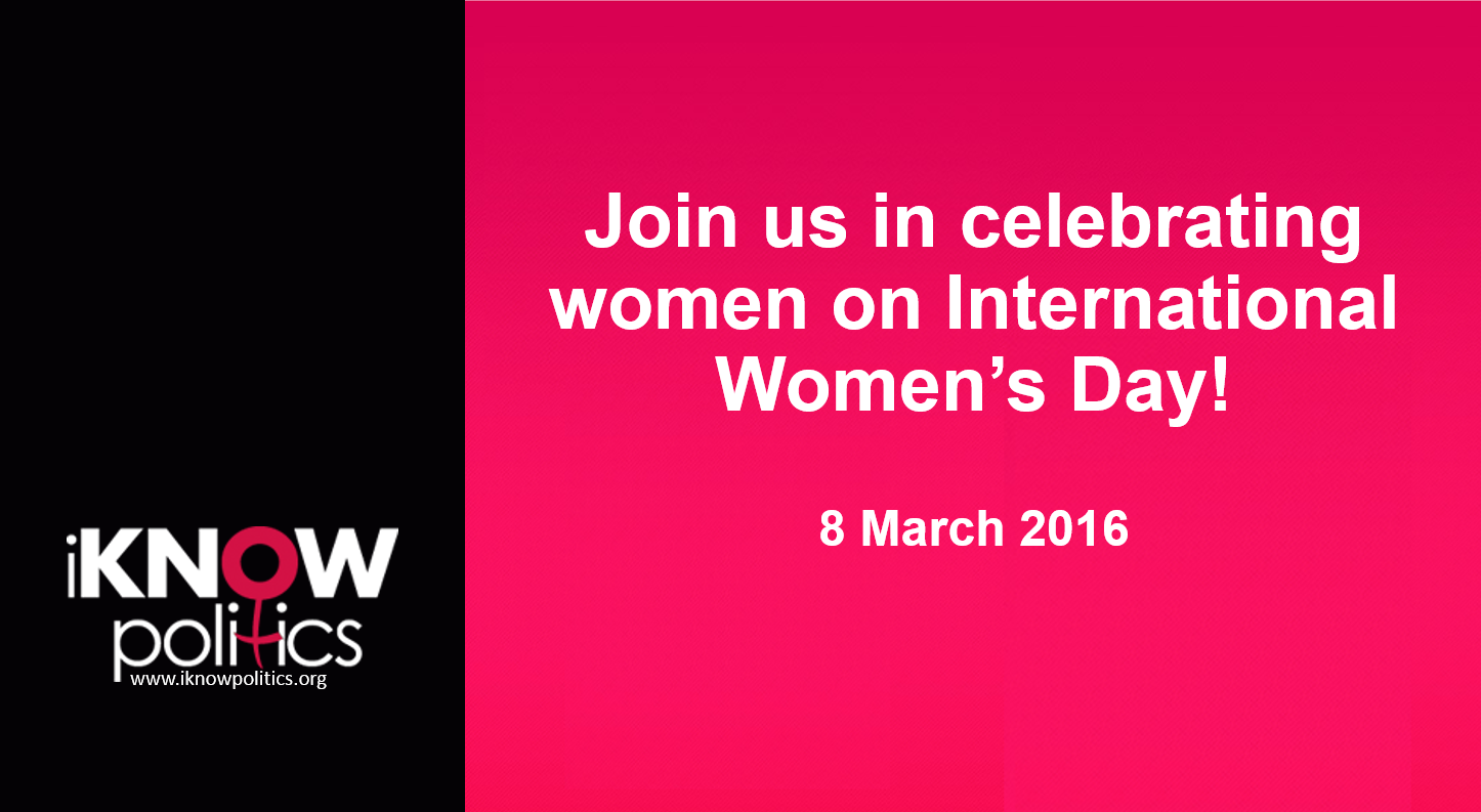 women in the media international knowledge network of women in iknow politics wishes all its members and followers a happy women s day 2016