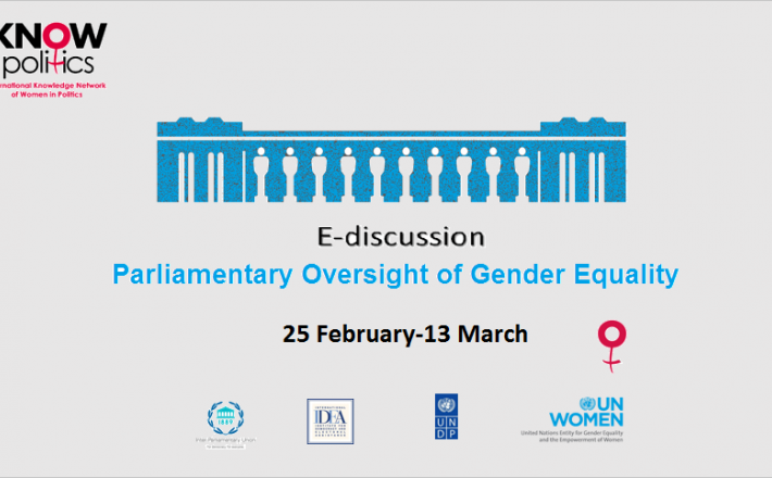 Knowledge Equality >> Parliamentary Oversight Of Gender Equality International Knowledge