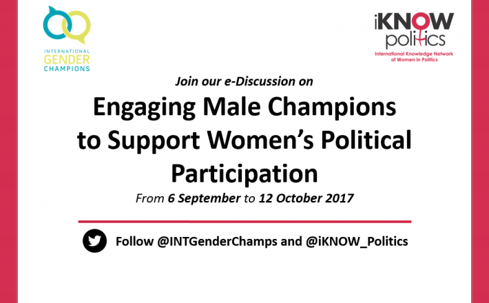 Engaging Male Champions to Support Women's Political Participation