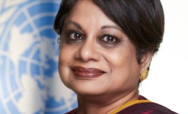 Radhika Coomaraswamy is the lead author of the Global Study on the Implementation of UNSCR 1325. Photo: UN Photo/Mark Garten