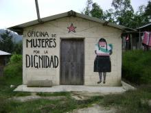 """""""Office of Women for Dignity"""" at the Zapatista Autonomous Municipality """"Caracol de Oventic,"""" Chiapas, Mexico."""