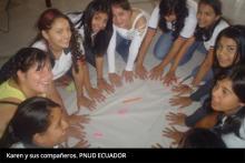 Karen y sus compañeros-PNUD Ecuador