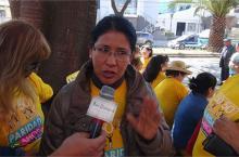 La representante de la Coordinadora de la Mujer en Cochabamba, Graciela Vásquez. - Gerardo Bravo Los Tiempos Digital