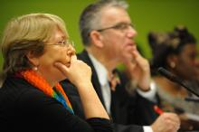 UN Women Executive Director Michelle Bachelet speaks at CSW