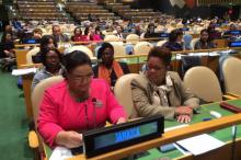 Minister Falcon at CSW 59