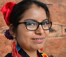 Dalí Angel, indígena zapoteca del Estado de Oxaca en México. Integrante de la organización Mujeres indígenas por Ciarena. Foto: Rocío Franco, Radio ONU.
