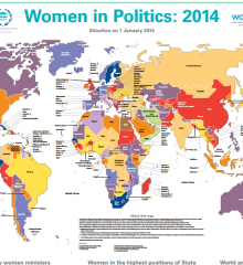 Women in politics map